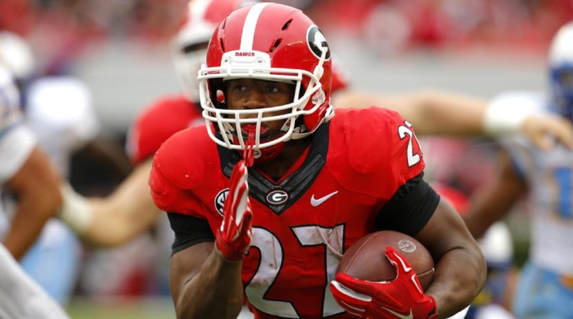 Georgia senior running back Nick Chubb. (Photo by Sports Illustrated) 5084ede4f